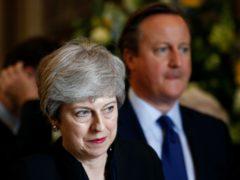 Theresa May and David Cameron (Henry Nicholls/PA)