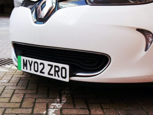 Green number plates to make it easier to identify electric cars launch on Tuesday (Department for Transport/PA)