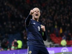 Steven Naismith claimed a first-half hat-trick for Hearts (PA)