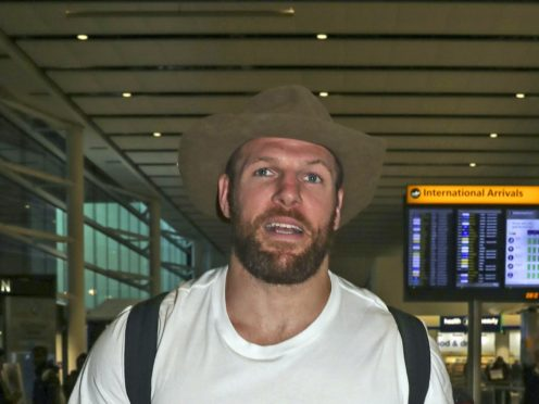 Former I'm A Celebrity… Get Me Out Of Here! star James Haskell has joined forces with other big names from the world of sport for a tilt at the Christmas number one spot (Steve Parsons/PA)