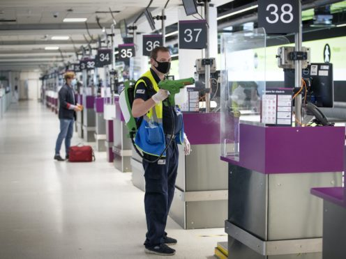Travellers from the latest countries will have to self-isolate for 10 days (Jane Barlow/PA)
