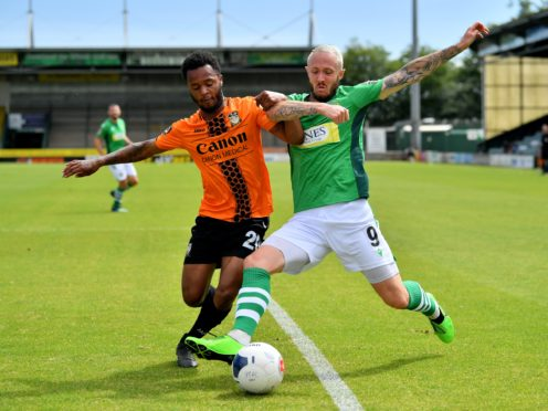 Rhys Murphy (right) opened the scoring for Yeovil (Ben Birchall/PA)