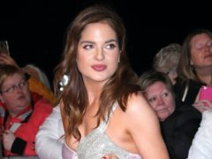 Binky Felstead shared a photo of herself on Instagram wearing a sports bra and maternity leggings (Isabel Infantes/PA)