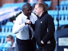 Celtic manager Neil Lennon (right) supportive of Kilmarnock manager Alex Dyer (Ian McNichol/PA)