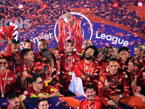 Liverpool finally won the Premier League title (Laurence Griffiths/PA)