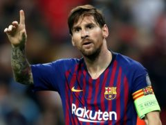 Lionel Messi's Barcelona contract expires at the end of the season (Nick Potts/PA).