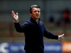 Fleetwood manager Joey Barton protested to the referee after the final whistle against Crewe (Alex Livesey/PA)