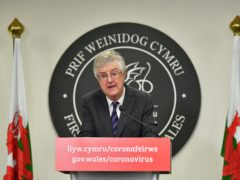 Support for Welsh First Minister Mark Drakeford's handling of the coronavirus crisis has fallen, a survey shows (Ben Birchall/PA)