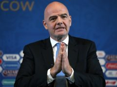 A case file concerning a flight FIFA president Gianni Infantino took in 2017 has been passed to federal prosecutors in Switzerland (Nick Potts/PA)