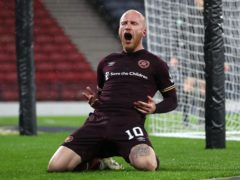Liam Boyce scored twice for Hearts (Andrew Milligan/PA)