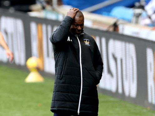 Alex Dyer's side have taken three points from a possible 24 (Steve Welsh/PA)