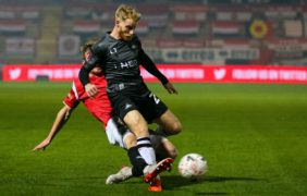 Josh Sims has played the last game of his loan barring an extension (Barrington Coombs/PA)