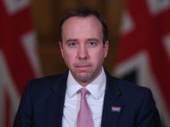 Health Secretary Matt Hancock (Stefan Rousseau/PA)