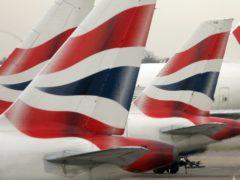British Airways planes (Tim Ockenden/PA)