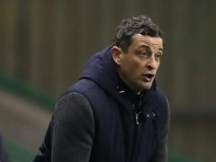 Jack Ross watched his Hibs side come from behind to win at Alloa (Andrew Milligan/PA)