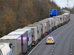 The Government has been making contingency plans for traffic control of lorries entering and leaving UK ports from January 1 amid warnings of major hold-ups (Gareth Fuller/PA)