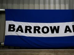 Barrow ended 2020 with a home draw (Zac Goodwin/PA)