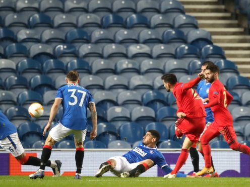 Rangers drew 2-2 with Benfica last month (Andrew Milligan/PA)