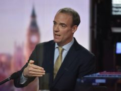 Dominic Raab did not rule out continuing the Brexit trade talks after Sunday's deadline (Jeff Overs/BBC)
