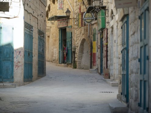 Deserted streets near the Church of the Nativity (Majdi Mohammed/AP)