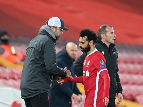Liverpool manager Jurgen Klopp insists Mohamed Salah is happy at Anfield (Michael Regan/PA)
