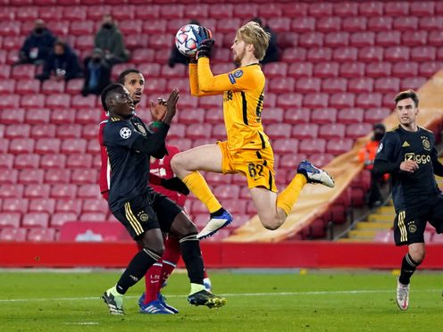 Liverpool goalkeeper Caoimhin Kelleher impressed on his Champions League debut (Jon Super/PA)