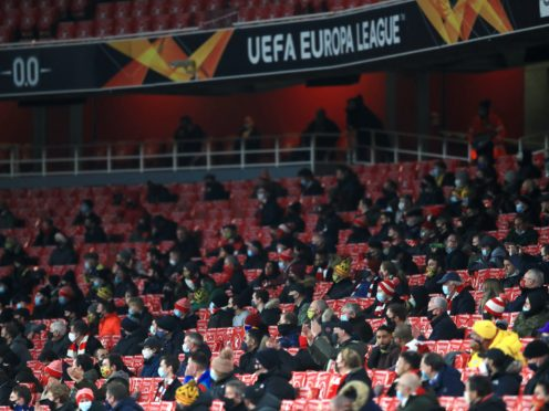 Fans returned to the Emirates for the clash against Rapid Vienna (Adam Davy/PA)