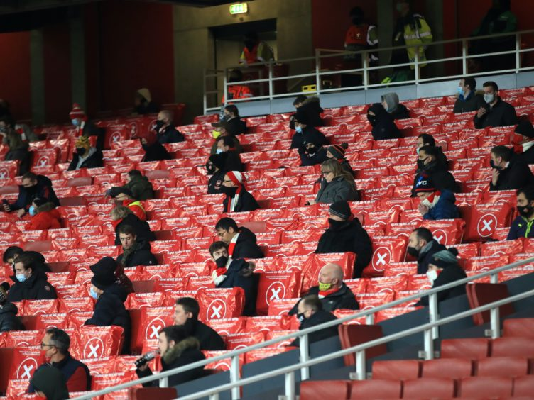 Arsenal fans returned to the Emirates Stadium on Thursday night (Adam Davy/PA)