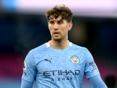 Pep Guardiola has praised John Stones (Michael Regan/PA)