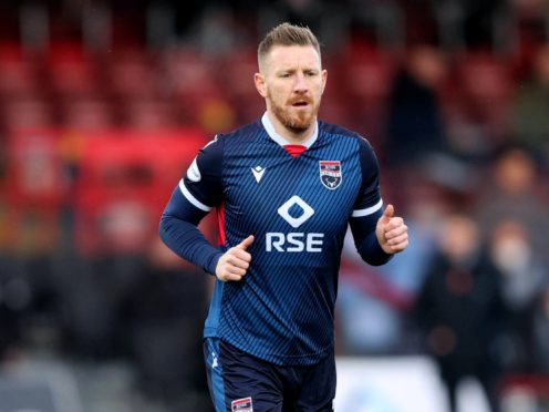 Ross County's Michael Gardyne has denied using a homophobic remark during Sunday's defeat to Rangers (Jeff Holmes/PA)