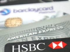 UK Finance said contactless payments made up a record 64% of debit card transactions in September (PA)