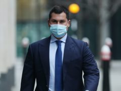 Temur Akhmedov arrives at the Rolls Building in London, where his mother, Tatiana Akhmedova, is involved in a High Court battle with her ex-husband, Farkhad Akhmedov (Yui Mok/PA)