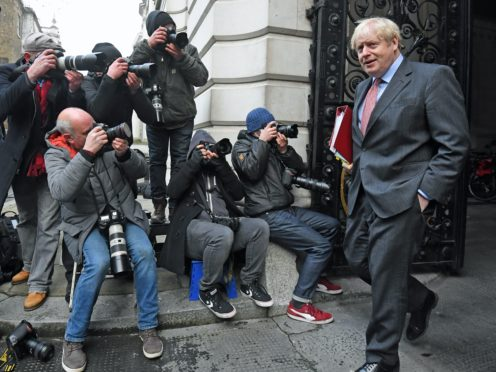 Prime Minister Boris Johnson in Downing Street (Kirsty O'Connor/PA)