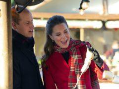 The Duke and Duchess of Cambridge toast marshmallows at Cardiff Castle (Jonathan Buckmaster/Daily Express/PA)