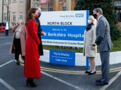 The Duke and Duchess of Cambridge visiting the Royal Berkshire Hospital in Reading (Matthew Childs/PA)