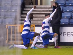 QPR's Ilias Chair, right, and Bright Osayi-Samuel take the knee in celebration of a goal against Millwall (John Walton/PA)