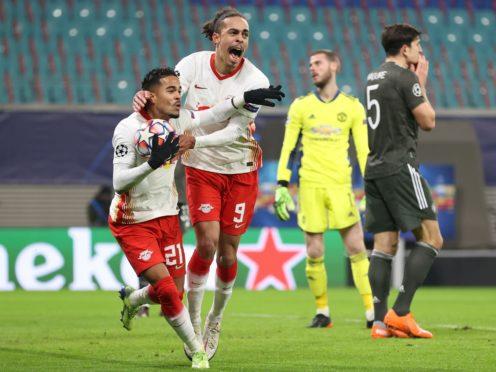 Justin Kluivert scored Leipzig's third goal (PA via DPA)