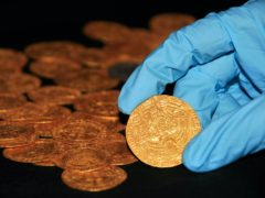 Tudor coins found in the New Forest (The Trustees of the British Museum/PA)