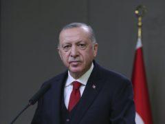 Turkey's President Recep Tayyip Erdogan (Turkish Presidency via AP, Pool)