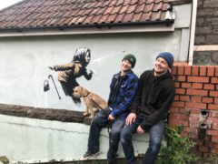 The artwork has appeared on the side of a house on Vale Street, Bristol (Claire Hayhurst/PA)