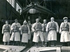 The crew of the Canadian Pacific lifeboat (RNLI/PA)
