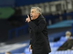 Everton manager Carlo Ancelotti is reluctant to publicly declare his side contenders for a Champions League place (Peter Powell/PA)