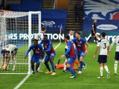 Tottenham were pegged back by Jeffrey Schlupp's equaliser (Glyn Kirk/PA)
