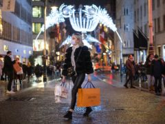 UK retail sales volumes declined in November as stores were forced to temporarily close during England's second national lockdown, new figures show (Dominic Lipinski/PA)