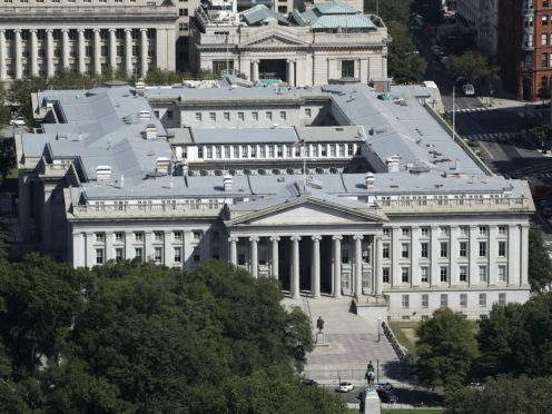 The US Treasury Department building (Patrick Semansky/AP)