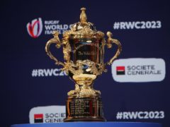 The Rugby World Cup on display in Paris (Christophe Ena/AP)