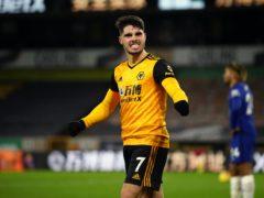Pedro Neto celebrates Wolves' victory over Chelsea (Michael Steele/PA)