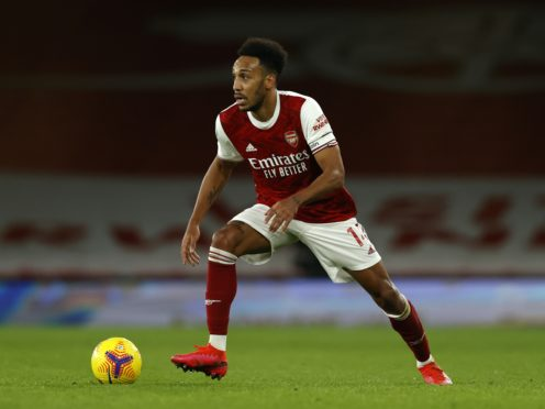 Pierre-Emerick Aubameyang has been struggling with a calf injury (Adrian Dennis/PA)