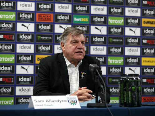 Sam Allardyce is back in football management (Handout/West Brom/PA)