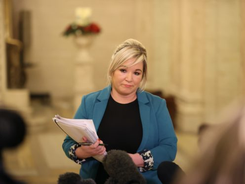 Deputy First Minster Michelle O'Neill speaking during a press conference (Liam McBurney/PA)